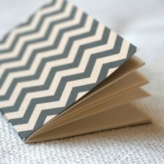 chevron stripe jotter by eileen