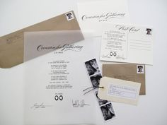Invitation on vellum:    The polished presence  of your sincere self and guest of favor  Are requested at the nuptials of  Jeremy + Kathleen*    Date  Time  Venue/Location    heavy hors d'oeuvres . wine . beer    Your prolonged attendance is appreciated  as good cheer will extend into the evening hours  with an open reception, libations, and victuals    Yours sincerely,