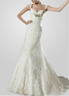 FABULOUS NET MERMAID SWEETHEART NECKLINE WEDDING DRESS WITH LACE APPLIQUES LACE BRIDESMAID PARTY COCKTAIL GOWN