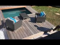 Terrasse mobile de piscine : un Rolling-Deck® de plus de 6m de porteafaux en Ile de France - YouTube
