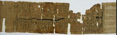 Book of Amduat, Perhaps of Bakenmut, with Elements of the Tenth through Twelfth Hours, 1000-900 BC Egypt, Third Intermediate Period, late Dynasty 21 (1069-945 BC) or early Dynasty 22 (945-715 BC) papyrus, Overall - h:21.20 l:95.80 cm (h:8 5/16 l:37 11/16 inches).