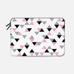 @casetify sets your Instagrams free! Get your customize Instagram phone case at casetify.com! #CustomCase Custom Phone Case | Casetify | Graphics | Black & White | Painting  | Project M #triangles #triangle #geometric #black #white #pink #macbook $10 off with code 5UUFAR