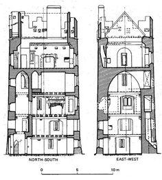 Clara Castle, County Kilkenny, Ireland 15th Century, cutaway.jpg (480×535)