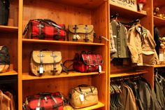 those plaid bags right there are what my dreams are made of!