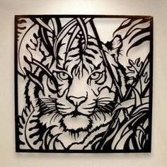 This Tiger Metal Wall Art from husband and wife team, Bill & Elaine Snell is stunning piece of metal artwork! Metal Leaf Wall Art, Metal Artwork, Wood Art, Cnc Plasma, Kirigami, Wood Burning Patterns, Stencil Patterns, Scroll Saw Patterns, Pyrography