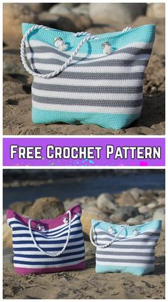 Crochet Classic Beach Bag Free Crochet Pattern #Crochet