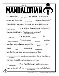 Mandalorian Mad Libs for Kids | Woo! Jr. Kids Activities