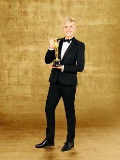 Ellen and Oscar #actress #ellen http://www.pinterest.com/TheHitman14/the-actress/
