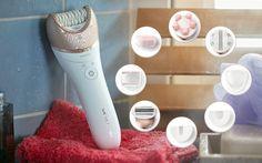 Der Philips Satinelle Prestige verspricht Haarentfernung und Körperpflege zum Verwöhnen. Mit 149 anderen Testerinnen darf ich an der Markenjury-Aktion mit Philips teilnehmen.  Herzlichen Dank an das Markenjury- Team, Philips und das BARBARA Magazin, ich freue mich sehr das Haarentfernungs- und Körperpflegesystem mit neun verschiedenen Aufsätzen für glatte und gepflegte Haut zu testen