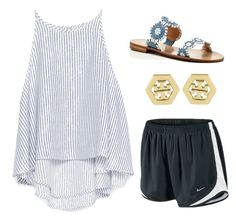 """""""it's you."""" by simply-elle ❤ liked on Polyvore featuring NIKE, Zara, Tory Burch and Jack Rogers"""