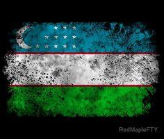 Uzbekistan Flag, Vintage Flag, Flag Design, Top Artists, Island, Flags, Illustration, Country, T Shirts