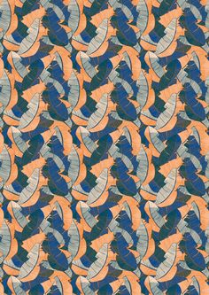 Leaf Overlay in Winterlight. Digital print wallpaper and fabric by Emily Ziz