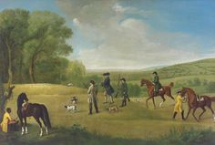 """""""Shooting at Goodwood"""" by George Stubbs"""