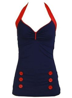 Nautical Women's Bathing Suit Swimsuit Swimwear. Fabulous. @ joycotton