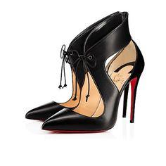 Ferme rouge nappa 100 VERSION BLACK Nappa - Women Shoes - Christian Louboutin