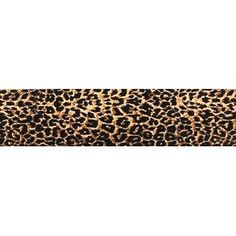 """Leopard Print Ribbon. 1 1/2"""" wide for centerpieces, bows or crafts."""
