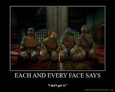 TMNT Poster - Their faces tell it all by ~Theanimekitty89 on deviantART