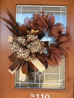 Animal Print Mesh Wreath by LittleThats on Etsy, $50.00