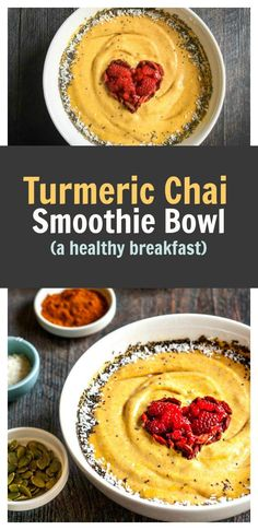 Turmeric Chai Smoothie Bowl - a delicious healthy breakfast in 5 min!
