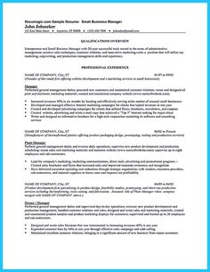 Business Owner Resume Sample When You Write Your Resume Especially A Resume For A Basketball