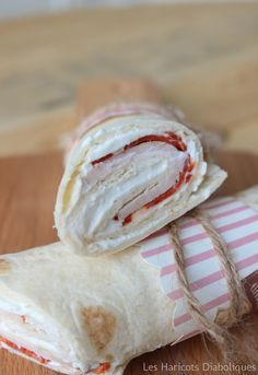 Wraps au ch vre frais poulet et chorizo Wrap Recipes, Snack Recipes, Snacks, Cheese Wrap, Wrap Sandwiches, Finger Sandwiches, Super Healthy Recipes, Cooking Time, Finger Foods