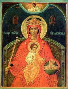 Image result for blessed virgin mary icon queen