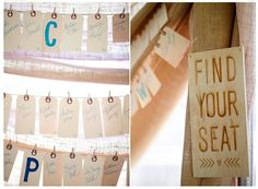 """table """"numbers"""" on escort cards #wedding #escortcards"""