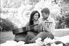Cute engagement photo with guitar...