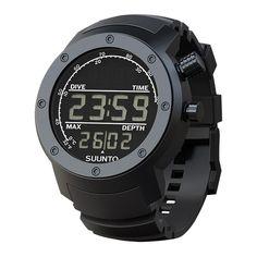 Suunto Elementum Aqua Black Rubber SS014528000 Dark Display Dive Computer Watch
