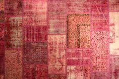 #Patchwork tapijten rood #Vloerkleed - #Tapijt