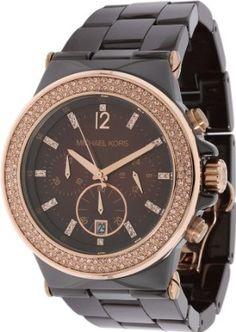 42109e867a3 Michael Kors MK5518 Dylan Chocolate Ceramic Espresso Chrono Watch Replica  Handbags