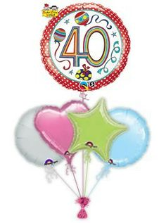 """Mark their birthday with fabulous Rachel Ellen designed specific age """"Stripes"""" birthday balloons. Wonderful age specific helium filled birthday balloons in a box by free balloon delivery. Helium filled balloons in a box. Get Well Balloons, Send Balloons, Helium Filled Balloons, Disney Balloons, Birthday Balloon Delivery, 60th Birthday Balloons, 70th Birthday, Birthday Presents, Friend Cartoon"""
