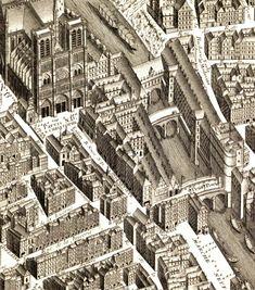 Detail of the Plan de Turgot - Lost Paris