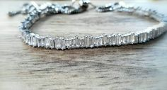 Rhodium plated cz genuine cubic zirconia Sparkle Tatoo Choker necklace, Extender customise,Chevron Link Tarnish resistant,Posh Punk by ClassicPunkDesign on Etsy Necklace Extender, Here Comes The Bride, Chevron, Plating, Chokers, Sparkle, Punk, Diamond, Unique Jewelry