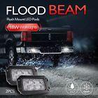 2X 6Inch 18W Flush Mount LED Work Lights Bar Flood Off Road Fog Driving lamp Car