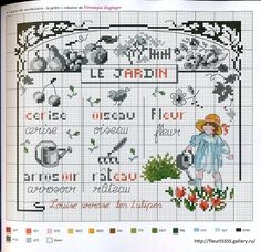 """Photo from album """"---ххх-- Agenda 2013 Point de Croix"""" on Yandex. Diy Embroidery, Cross Stitch Embroidery, Cross Stitch Patterns, Craft Museum, Cross Stitch For Kids, Vintage Cross Stitches, Needlepoint Patterns, Cross Stitch Flowers, Le Point"""