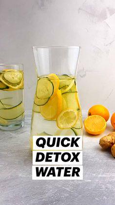 Healthy Water, Healthy Detox, Healthy Juices, Healthy Smoothies, Healthy Drinks, Healthy Life, Quick Detox, Easy Detox Cleanse, Detox Meals