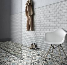 Discover Subway collection: see the magic in this finely crafted tile with the translucent glazed surface and the elegant bevel edge, which adds more style. Minimal Home, Bathroom Inspiration, Bathroom Ideas, Sweet Home, New Homes, Concept, Ceramics, Interior Design, House