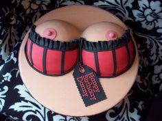 The orginial cake I copied from ....Boob cake by Andrea's SweetCakes, via Flickr @Brittany Horton Leonard