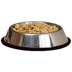 Loving Pets Diamond Plated Dog Bowl With Non-skid Bottom Pet Supplies Glassware 1-quart Attractive Designs;