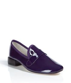 Violet Palace Patent-Leather Loafers