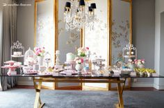A beautiful table for a farewell shabby chic tea party