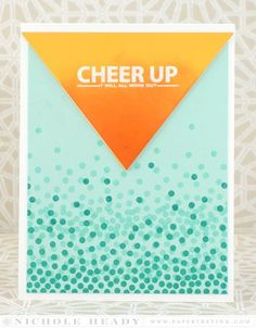 Cheer Up Card by Nichole Heady for Papertrey Ink (July 2015)