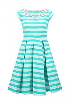Kate Spade Striped Bateau Neck Full Skirt Dress w/ Cap Sleeve, http://www.amazon.com/dp/B00PAYJGVK/ref=cm_sw_r_pi_awdm_CsqHub13QE6Q3