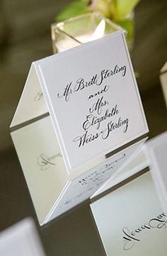 #Wedding Placecard Idea from Bob & Dawn Davis Photography. To see more: http://www.modwedding.com/2013/09/29/photographer-of-the-day-bob-dawn-davis-photography #weddingescortcard