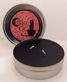 BLACK CAT REIKI Crystal Journey Travel CANDLE Magick GOOD LUCK Remove Bad luck