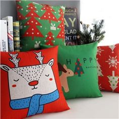 Nordic Ikea Christmas Sofa Office Pillow Cover 5 Designs Christmas Pillow Cover Christmas Gifts