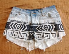 DIY aztec shorts!!! Making thesee