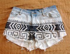 DIY aztec shorts!!!