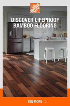 When you want durable flooring without compromising on style, then look to real wood Lifeproof Bamboo flooring, exclusively at The Home Depot. It not only protects against scratches and spills, but looks beautiful and adds value to your home. Plus, it's sustainable and easy to install. Click to explore Lifeproof Bamboo flooring from The Home Depot.